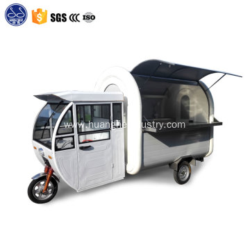 stainless steel coffee cart truck