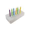 12PCS Printed Stripe Party Event Candles