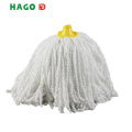 White Microfiber Round Wet Dust Mop Head