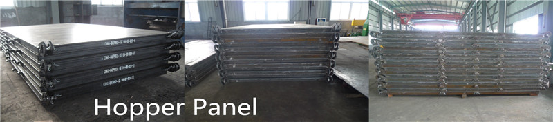 Steel marine hopper panels