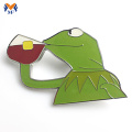 Cartoon frog animal metal pin badge custom