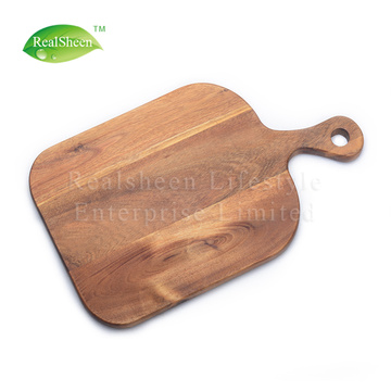 Acacia Wood Paddle Board for Bread Cheese Fruits