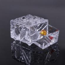 Pattern Glass Clear Jewelry Gift Drawer Box Wholesale