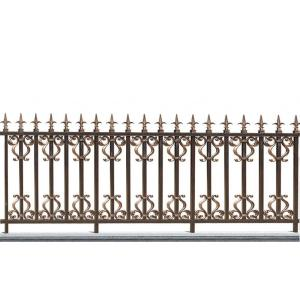Brown Spear Aluminum Fence