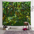 Green Plants Wall Tapestry Leaves Rain Forest Nature Tapestry Wall Hanging for Livingroom Bedroom Dorm Home Decor