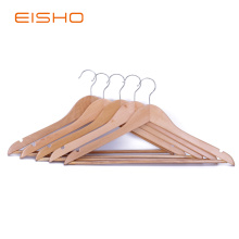 EISHO Natural Wood Clothes Hangers In Bulk