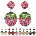 Czech Gem Earring Double Size Shamballa Anti Allergy Earring