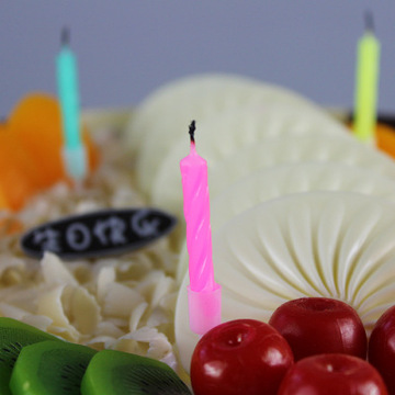 Small Spiral Birthday Cake Candles