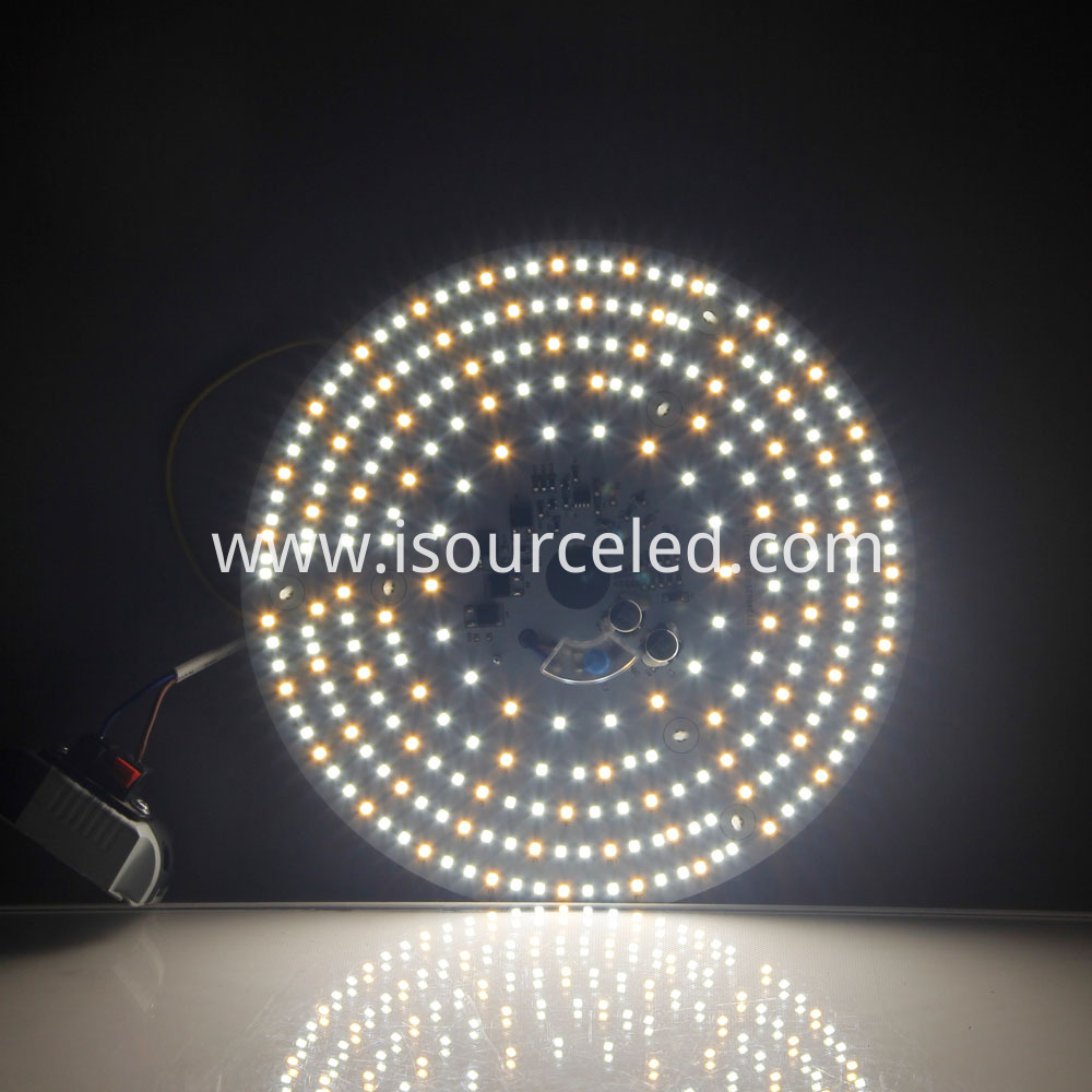 Colorable smd 2835 Round 24W AC LED Module lighting effect diagram