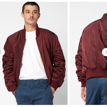 Solid color bomber jacket plain bomber jacket