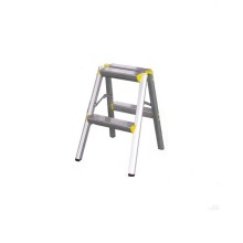 Aluminum two step little stool