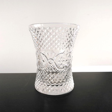 Wholesale Clear Diamond Handmade Glass Vase Decoration