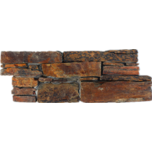 hot sale rusty exterior decor real stone paneling