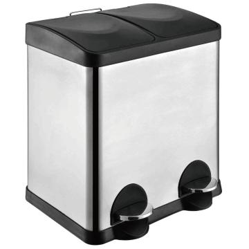 Double Stainless Steel Trash bin