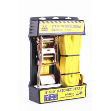 Aluminum Handle Ratchet Tie Down With Yellow Straps