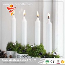 White candle burning long time candle