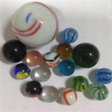 Transparent twisted natural color glass marble