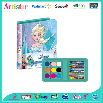 DISNEY FROZEN 18 pieces coloring art set