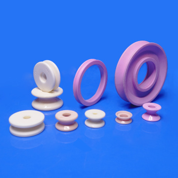 Fine polished alumina ceramic roller guide