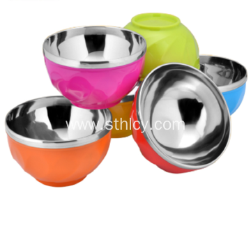 Double Wall Insulated Plastic Rice Bowl