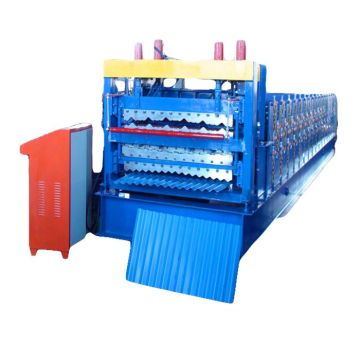 Galvanized Aluminum three Layers Roll Forming Machine
