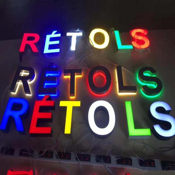Metal LED Illuminated Backlit Letters Sign China Manufacturer