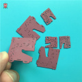 PCB heat cooling alumina purple insulating ceramic parts