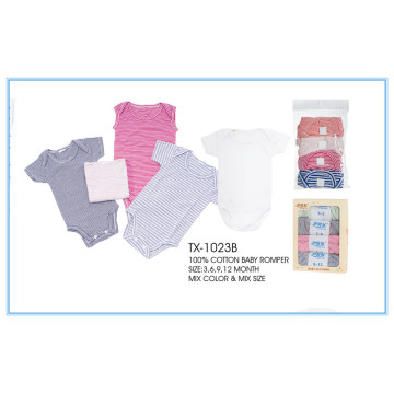 Selling comfortable baby romper baby clothes printed romper