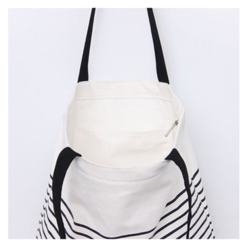 Wholesale zipper canvas tote bag