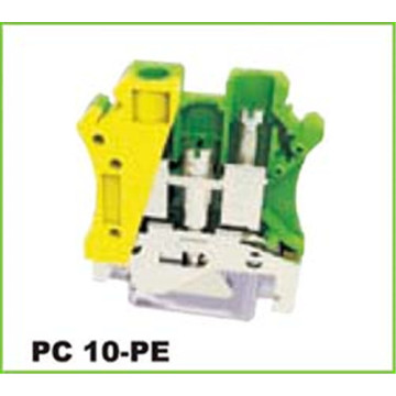 10mm2 Grounding Screw Connection Dinrail Terminal Block