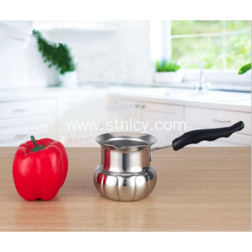 Pumpkin-shaped Stainless Steel Milk Pot