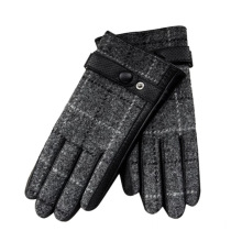 Worsted high quality vintage Customized leather mens glove