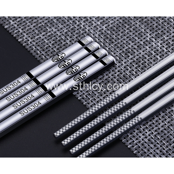 Stainless Steel Insulation Anti-scalding Square Chopsticks