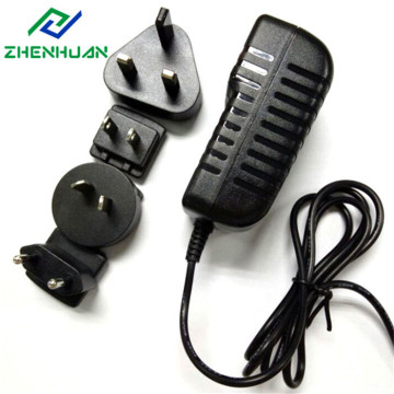 12W 6V 2A Multi AC Plug Adapter UK / EUA / UE / AU
