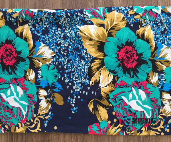 Fresh Big Flower 100% Rayon Fabric