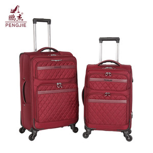 Suitcase trends nylon fabric trolley sets luggage bag