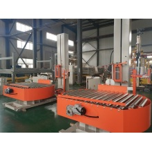 On-line pallet stretch wrapping machine