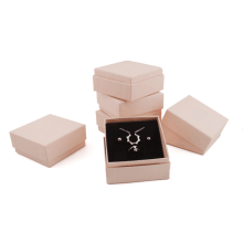 Nude pink jewelry gift paper box