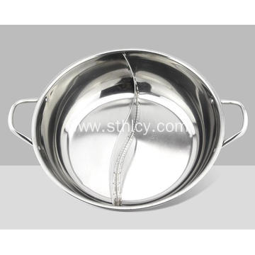 Stainless Steel Hot Pot with Divider Wholesale