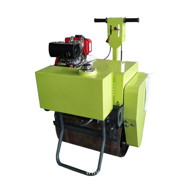 Hand operated single steel wheel  road roller