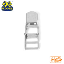 High Quality for Plastic Handle Ratchet Buckle 2 Inch White Zinc Webbing Buckle Steel Overcenter Buckle supply to Colombia Importers