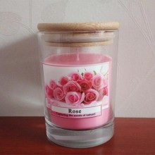 Luxury scented candle in glass jar with lids