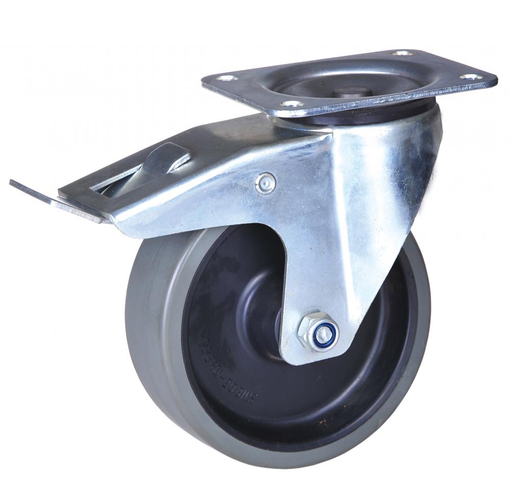 125mm swivel caster with lock