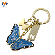 Personlized Products for Custom Made Keychains Metal butterfly shape keychain for anniversary gift export to Lao People's Democratic Republic Suppliers