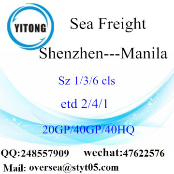 Shenzhen Port Sea Freight Shipping To Manila
