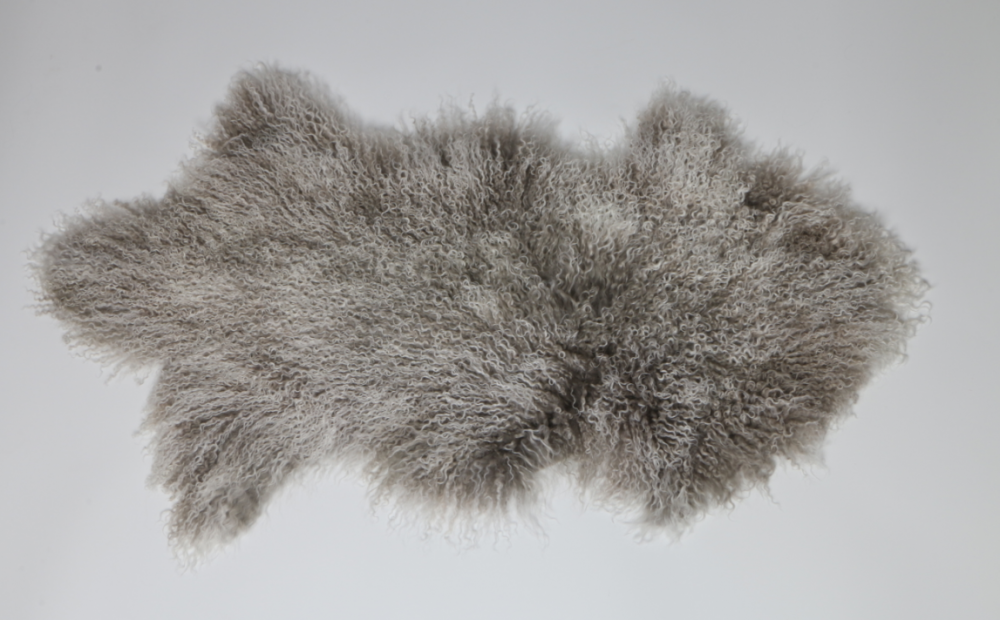 Long Curly Fur Hair Mongolian Lamb Fur Skin