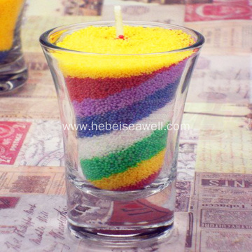 DIY Colored Sand Wax and Glass Wax Candles