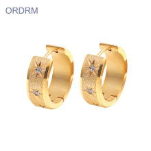 New Fashion Design for for Gold Hoop Earrings Stainless Steel Tiny 18k Gold Hoop Earrings supply to India Suppliers