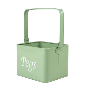 ENAMEL HOME SWEET Cream Storage Tin Box
