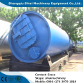 Waste tire recycling to base oil equipment